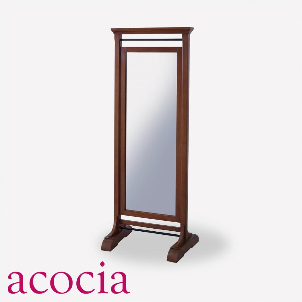 【ダイニング 半額セール】 【ソファー半額セール】 インダストリアル 鏡 スタンドミラー 木製フレーム W61×D45×H160cm ミラー 男前インテリア おしゃれ 流行