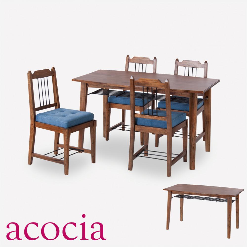 おしゃれ 【本革 高級ソファー セール】 【ダイニングチェア セール】 【ベランダ アウトドア】 テーブル ダイニングテーブル 木製 W130×D75×H72 ティンバー ダイニングテーブル cafe カフェ サロン