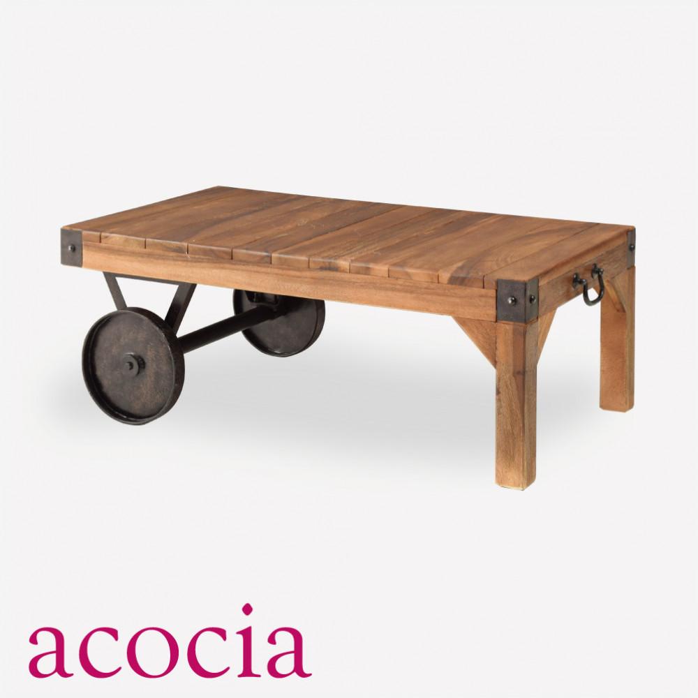テーブル W90×D50×H33 トロリー テーブル S 【ダイニングチェア半額セール】 【ソファー半額】 カフェ cafe おしゃれ モデルルーム 北欧 インダストリアル