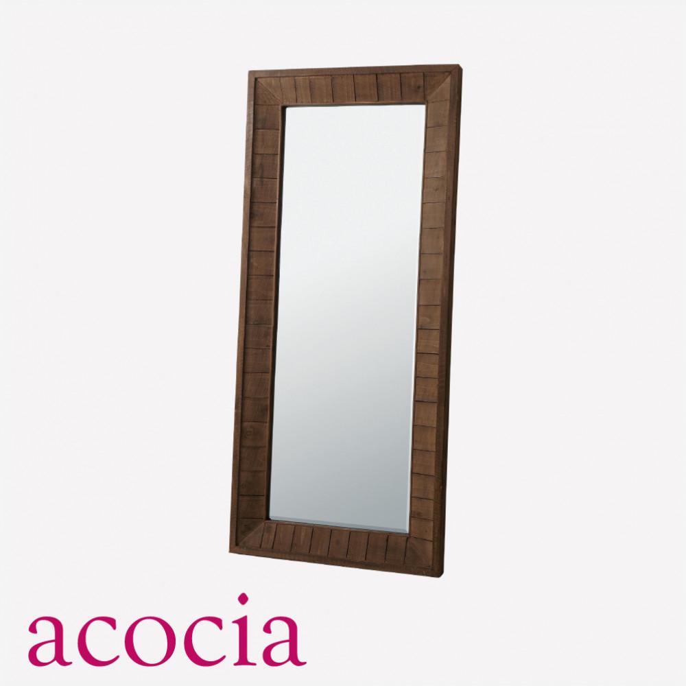 【ダイニング 半額セール】 【ソファー半額セール】 インダストリアル 鏡 スタンドミラー 木製フレーム W80×D7×H180 アンティークミラーL 男前インテリア おしゃれ 流行