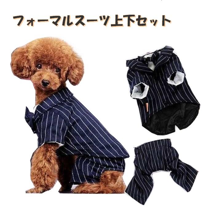 大切な愛犬をビシっと正装 ●日本正規品● ペット用 タキシード 犬 犬用 服 直営ストア スーツ コスプレ フォーマル pw-04-set ズボン 中型犬 小型犬