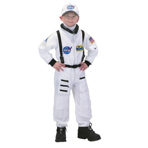ハロウィン 宇宙飛行士 コスチューム 制服 衣装 NASA コスプレ 子供 仮装 白 つなぎ 宇宙服
