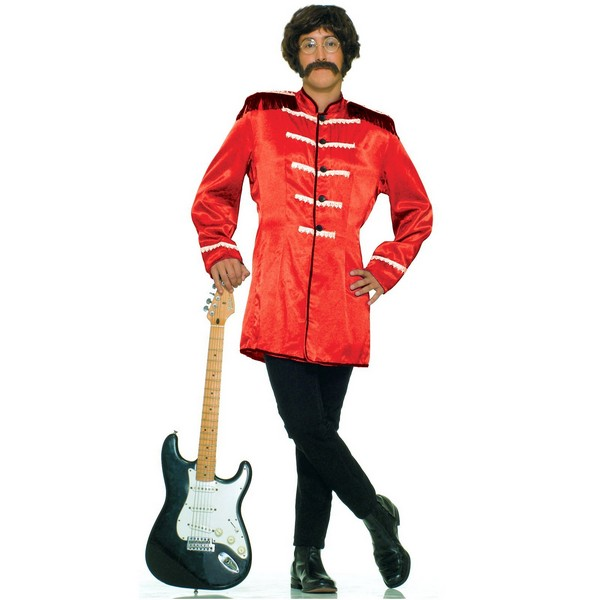 costume for halloween clothes band 60s uk rock star red adult