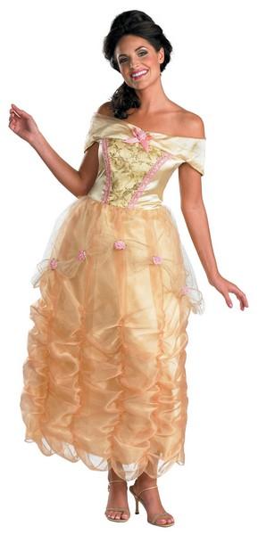 ディズニー プリンセス コスチューム 大人 美女と野獣 衣装 デラックス ハロウィン 仮装