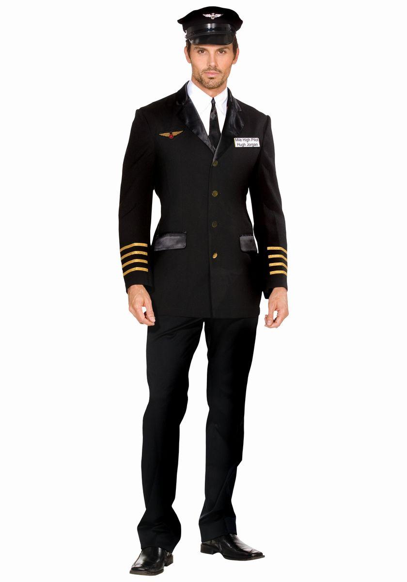 パイロット 制服 飛行操縦士 衣装 大人 男性用 コスプレ コスチューム 仮装 グッズ 黒
