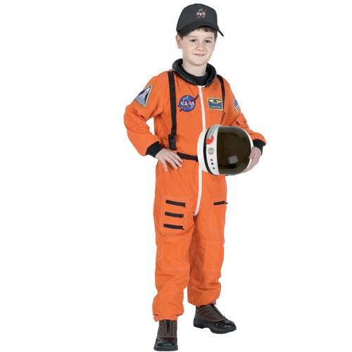 宇宙飛行士 制服 コスチューム 子供 キッズ用 NASA オレンジ スーツ 宇宙服 パイロット 衣装 コスプレ 仮装