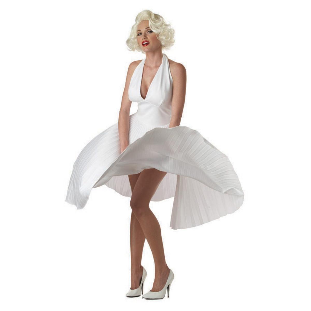マリリン ドレス コスプレ衣装 大人 女性 セクシー コスチューム ホワイトドレス
