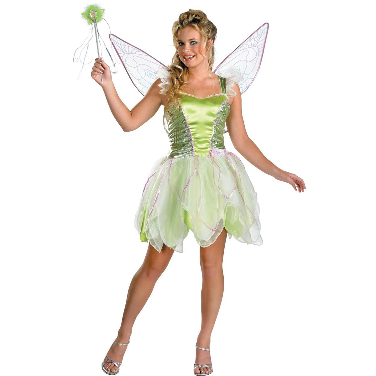 ティンカーベル コスチューム ドレス 大人 ディズニー コスプレ 女性 ピーターパン ティンク 衣装 仮装