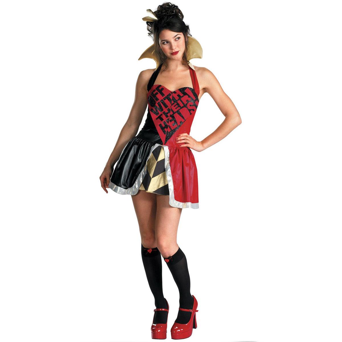 アリス 不思議の国 白うさぎ チシャ猫 ディズニー ハートの女王 コスプレ衣装 ヴィランズ 悪役