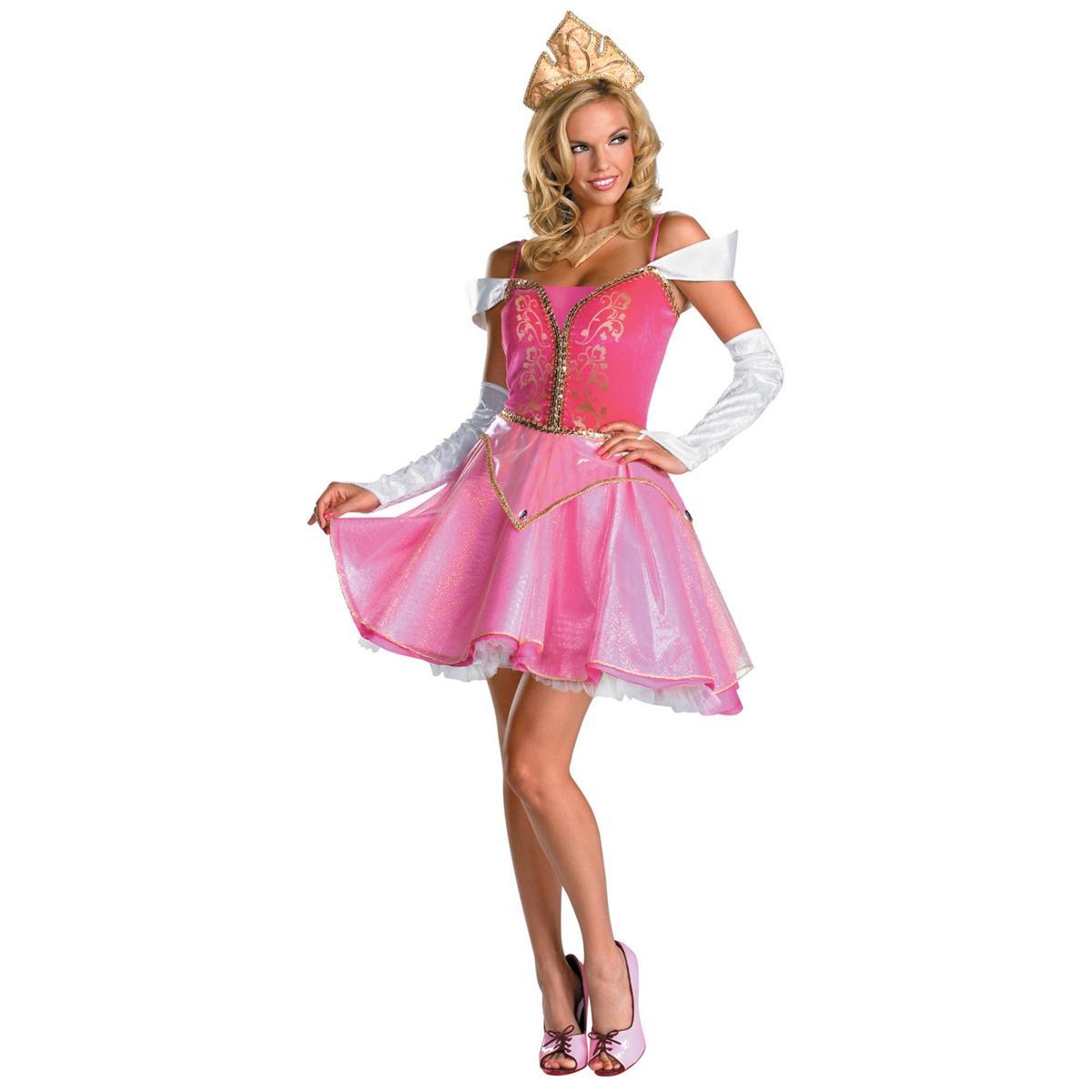 ディズニー プリンセス コスチューム 大人 オーロラ姫 衣装 ドレス 眠れる森の美女 オーロラ姫 プレステージ 衣装 ハロウィン