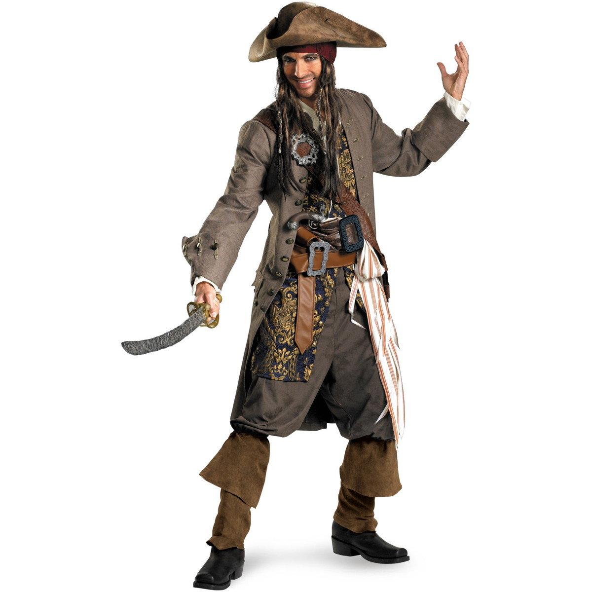 Jack Sparrow Costume Adult Pirates-of-Caribbean official official cosplay costume-adult theater edition Halloween costumes  sc 1 st  Rakuten & acomes | Rakuten Global Market: Jack Sparrow Costume Adult Pirates ...