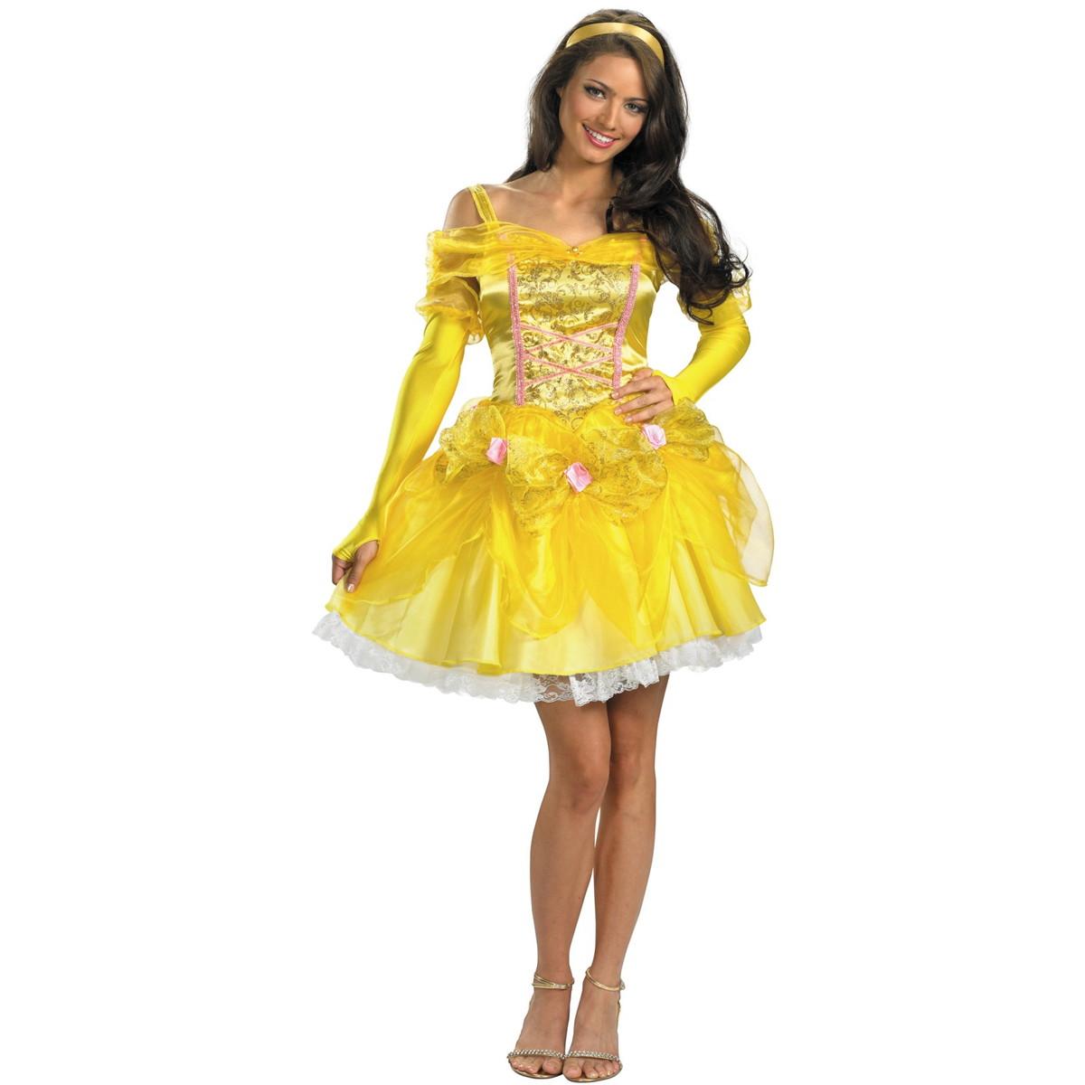 ディズニー プリンセス コスチューム 大人 ハロウィン ベル ドレス 衣装 美女と野獣 コスプレ 女性用 レディース 仮装 グッズ