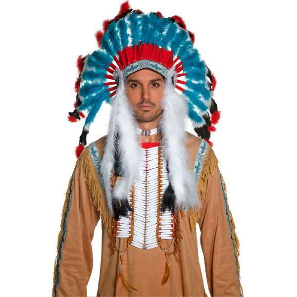 インディアン 衣装 ハロウィン コスプレ ハロウィーン インディアン羽飾り 大人用 羽根飾り