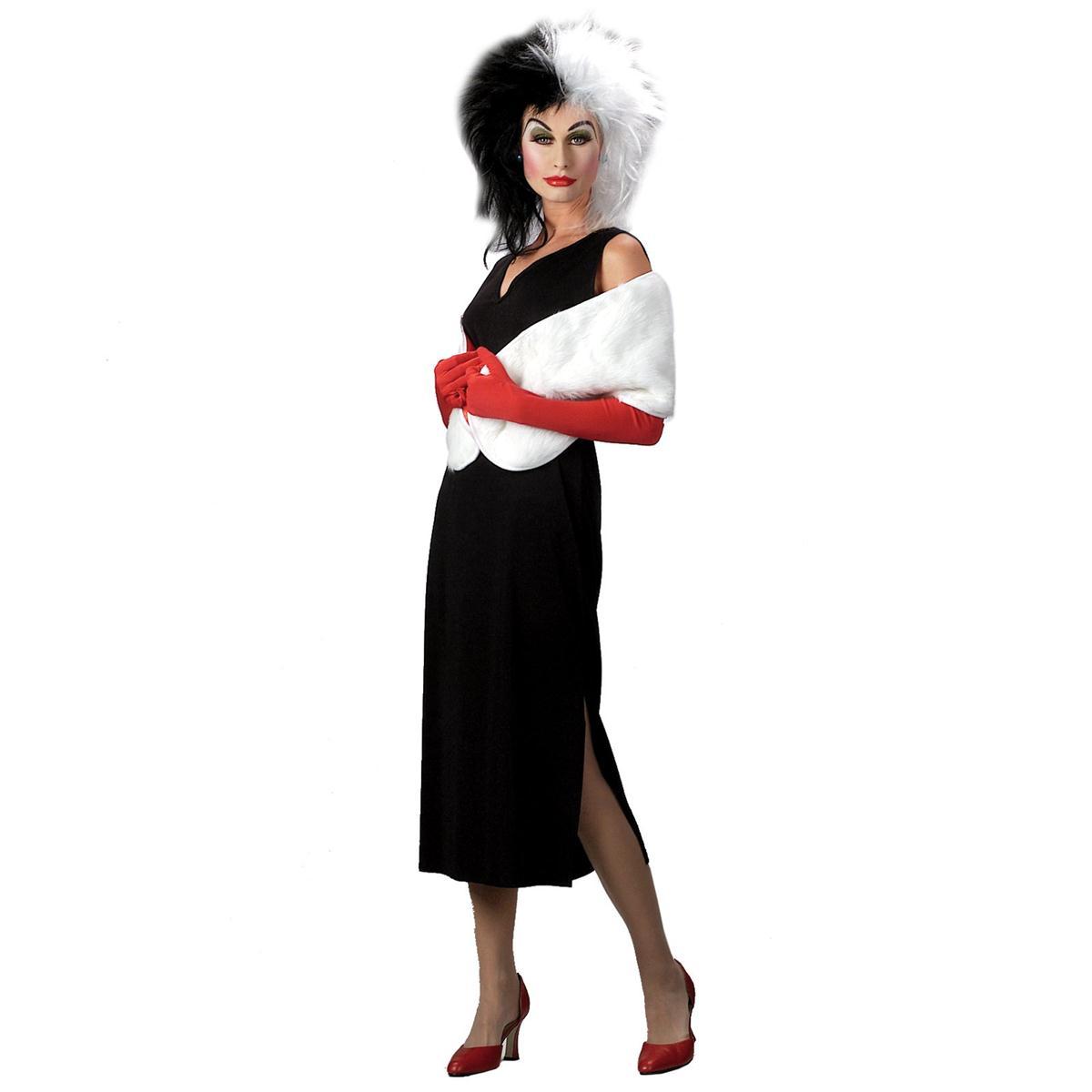 ハロウィン クルエラ 衣装 ディズニー コスチューム 大人 女性用 101匹わんちゃん 悪役 ヴィランズ キャラクター 仮装