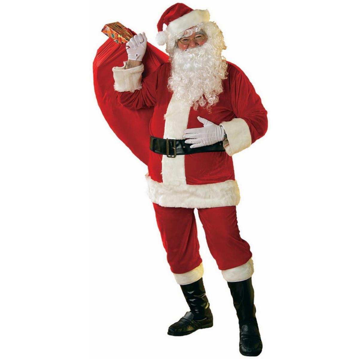 サンタクロース 衣装サンタクロース ソフトベロア製サンタスーツ 大人用コスチューム
