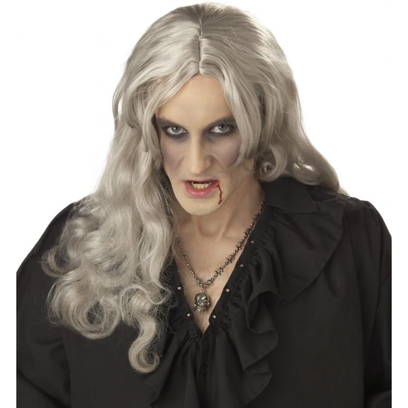 供万圣节服装服装古装戏吸血鬼的老妇人假头发大人使用的假发。
