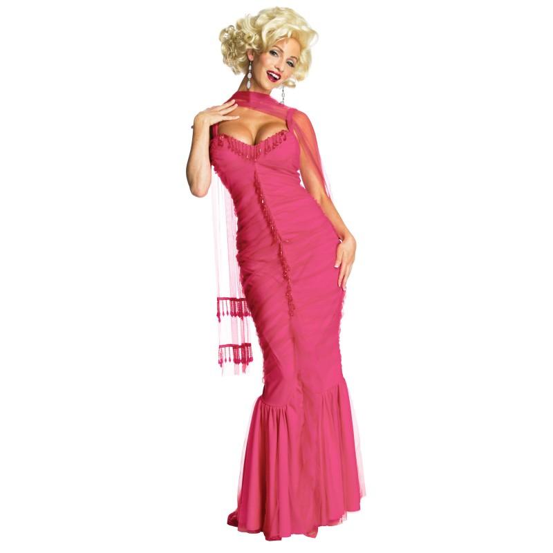 マリリンモンロー スカート 芸能人 芸人 タレント 歌手マリリン・ザ・プレミアム ピンクドレス 大人用