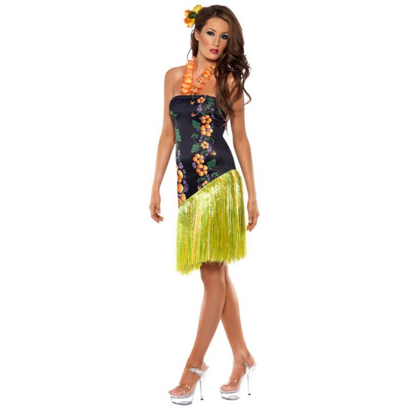 フラダンス衣装 ハワイアン 魅惑的なセクシールーアウ大人用コスチューム