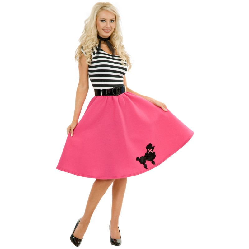 50年代 レトロ オールディーズ ディスコ ダンス 衣装 大人 女性 コスプレ コスチューム プードル 大きいサイズあり