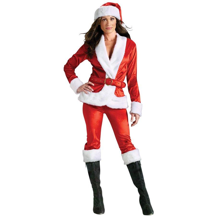サンタ コスプレ セクシー レディース コスチューム サンタクロース クリスマス パンツスタイル 長袖 衣装 仮装 大人 女性