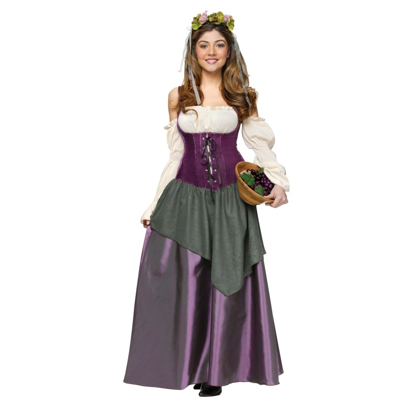 中世/ヨーロッパ 中世 酒場の少女 コスプレ 衣装 ハロウィン 大人用コスチューム