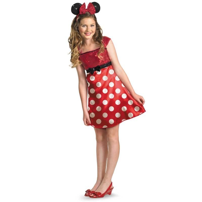 ディズニー コスチューム 子供 ミニーマウス コスプレ ワンピース ドレス ティーン 女の子用 公式ライセンス ファッション アパレル