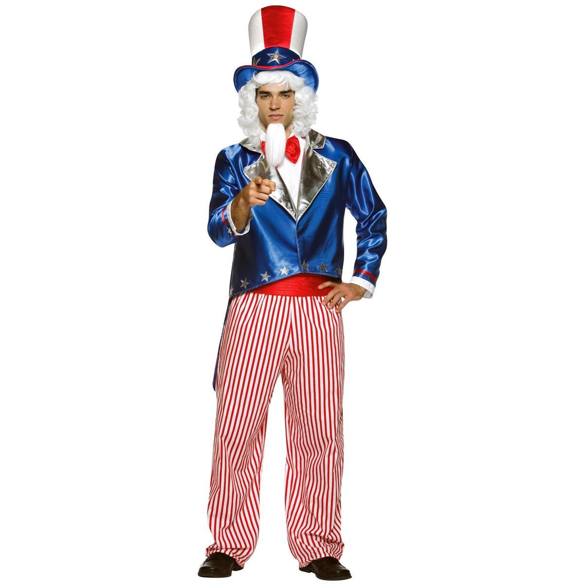 ハロウィン プレゼント アンクル・サム コスプレ 衣装・コスチューム アメリカ合衆国 大人用コスチューム