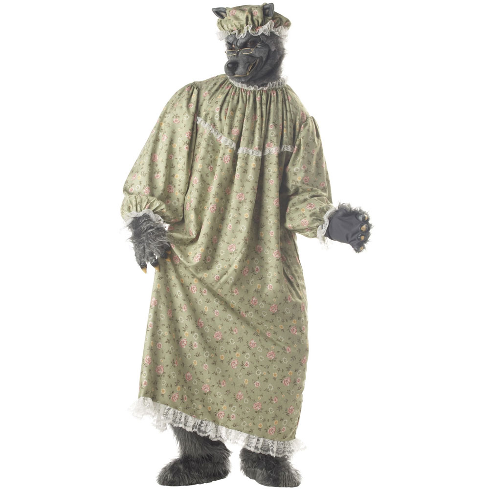 ハロウィン 赤ずきん コスチューム コスプレ 狼 動物 オオカミのおばあさん 舞台 演劇 衣装 マスク付 仮装セット 大人 あす楽