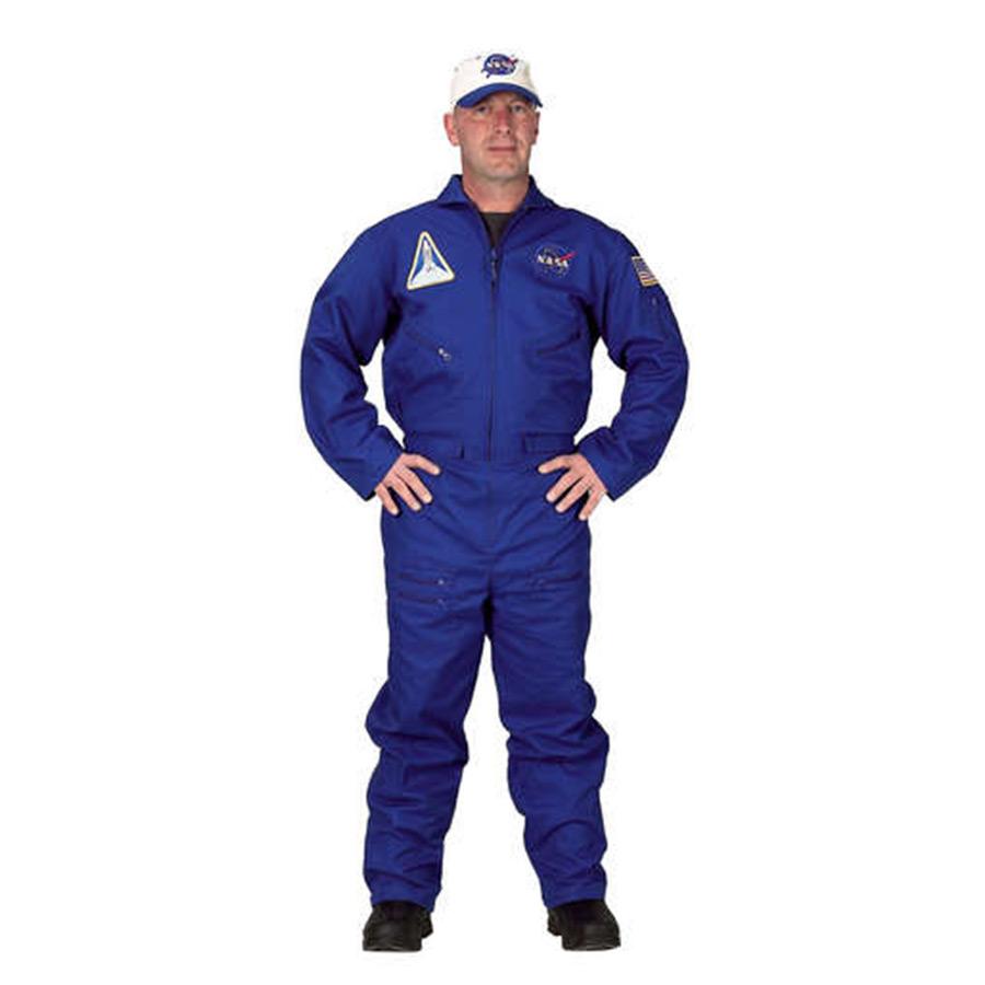 グッズ アクセサリー コスプレ 宇宙飛行士 フライトスーツ 帽子付き大人用コスチューム
