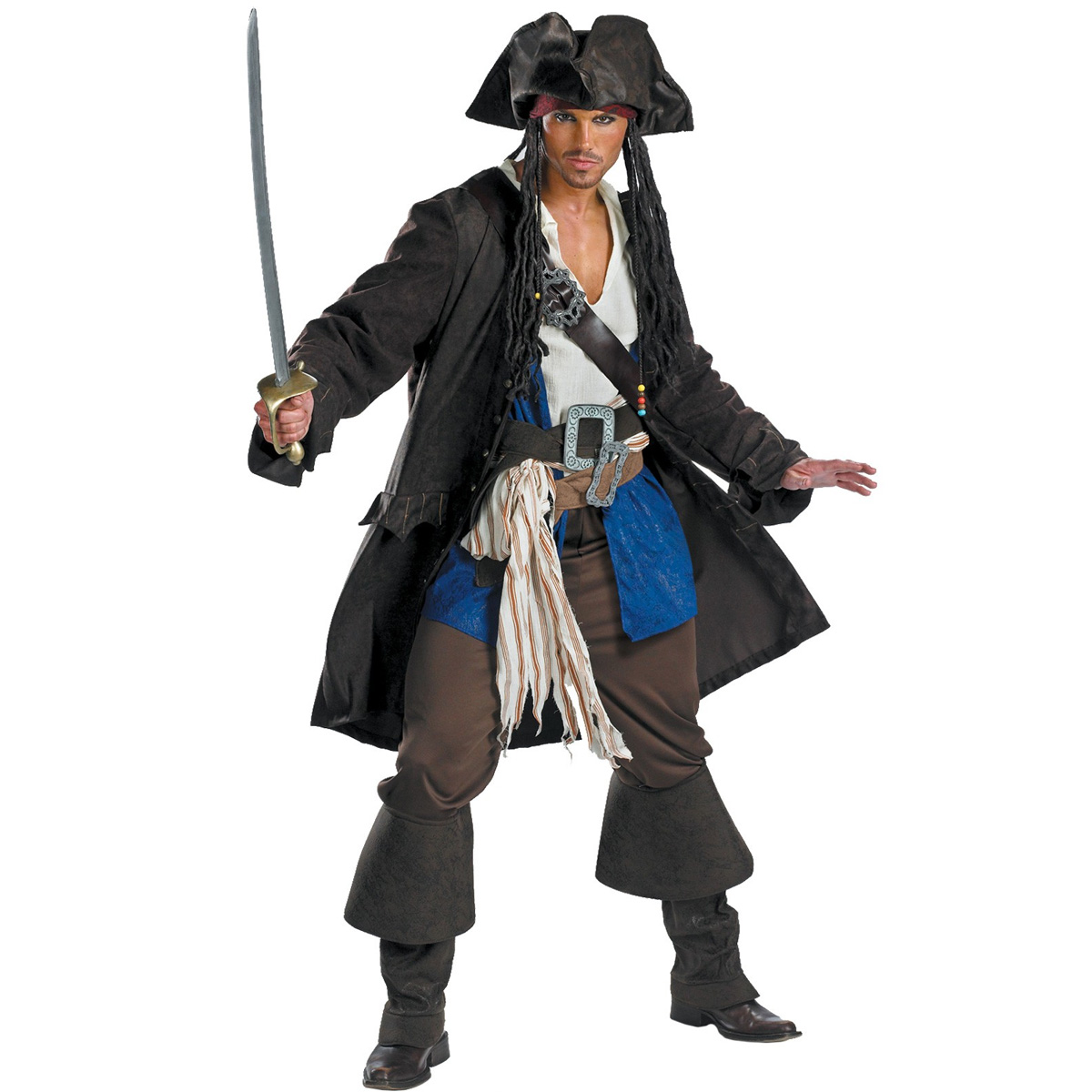 パイレーツオブカリビアン コスプレ 衣装 ジャックスパロウ コスチューム 大人 海賊 ジャック·スパロウ 男性 仮装