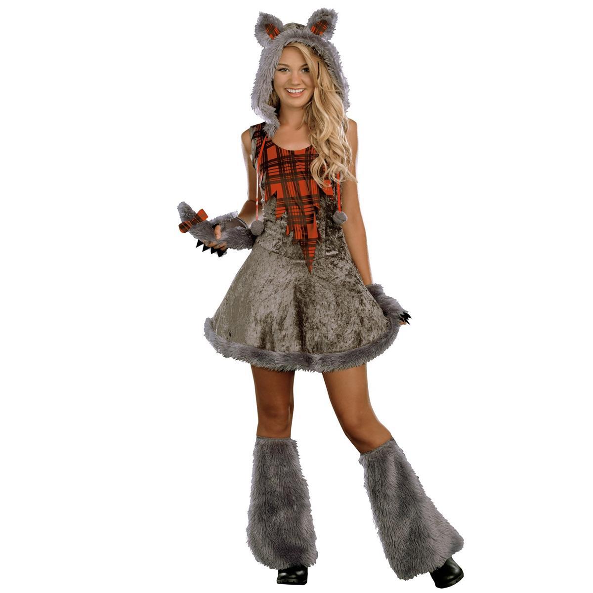 狼 ハロウィン コスプレ 衣装 コスチューム オオカミ 狼女 ウルフガール ティーン 子供