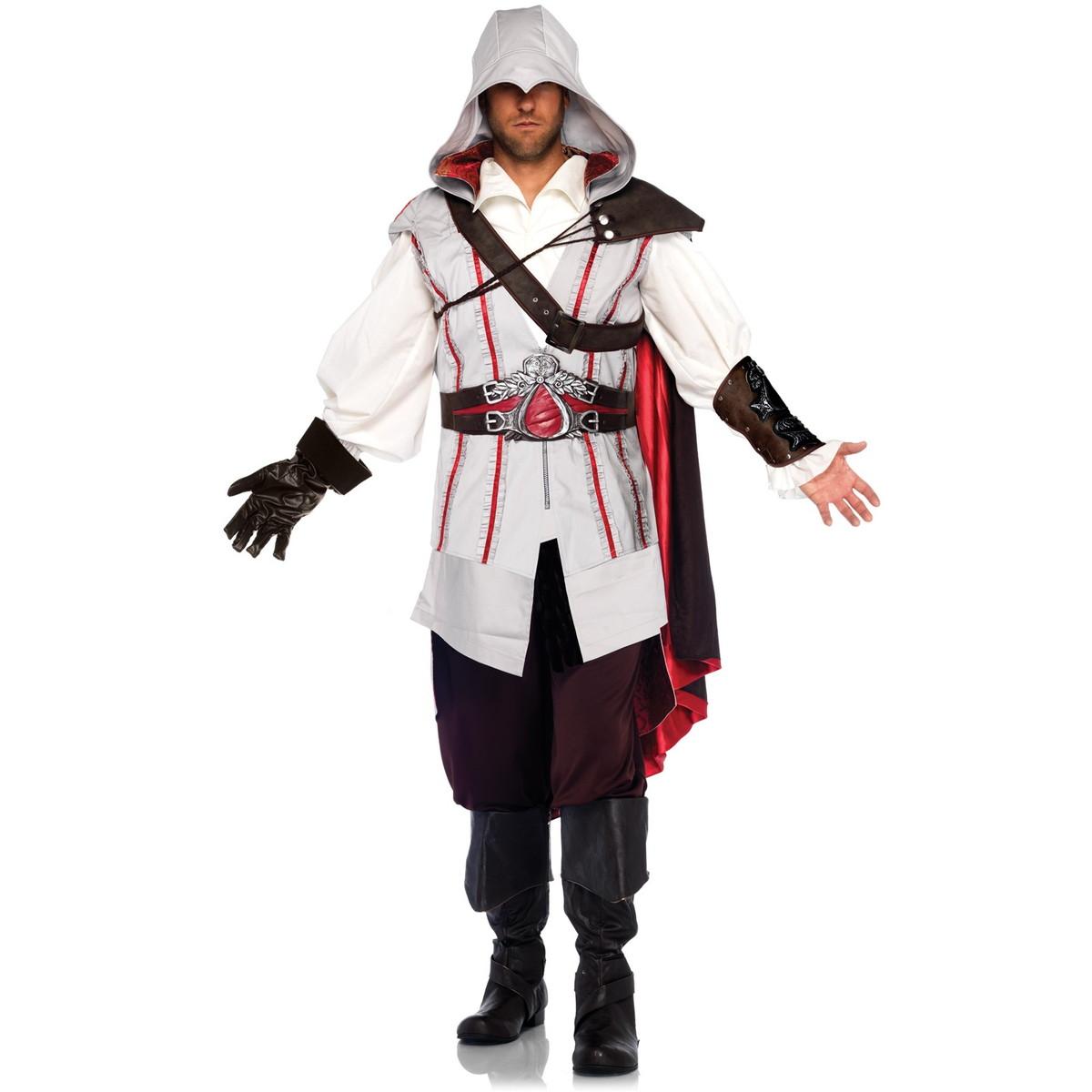 アサシンクリード エツィオ コスプレ コスチューム 衣装 Assassins Creed 大人用 ハロウィン 仮装 公式ライセンス グッズ