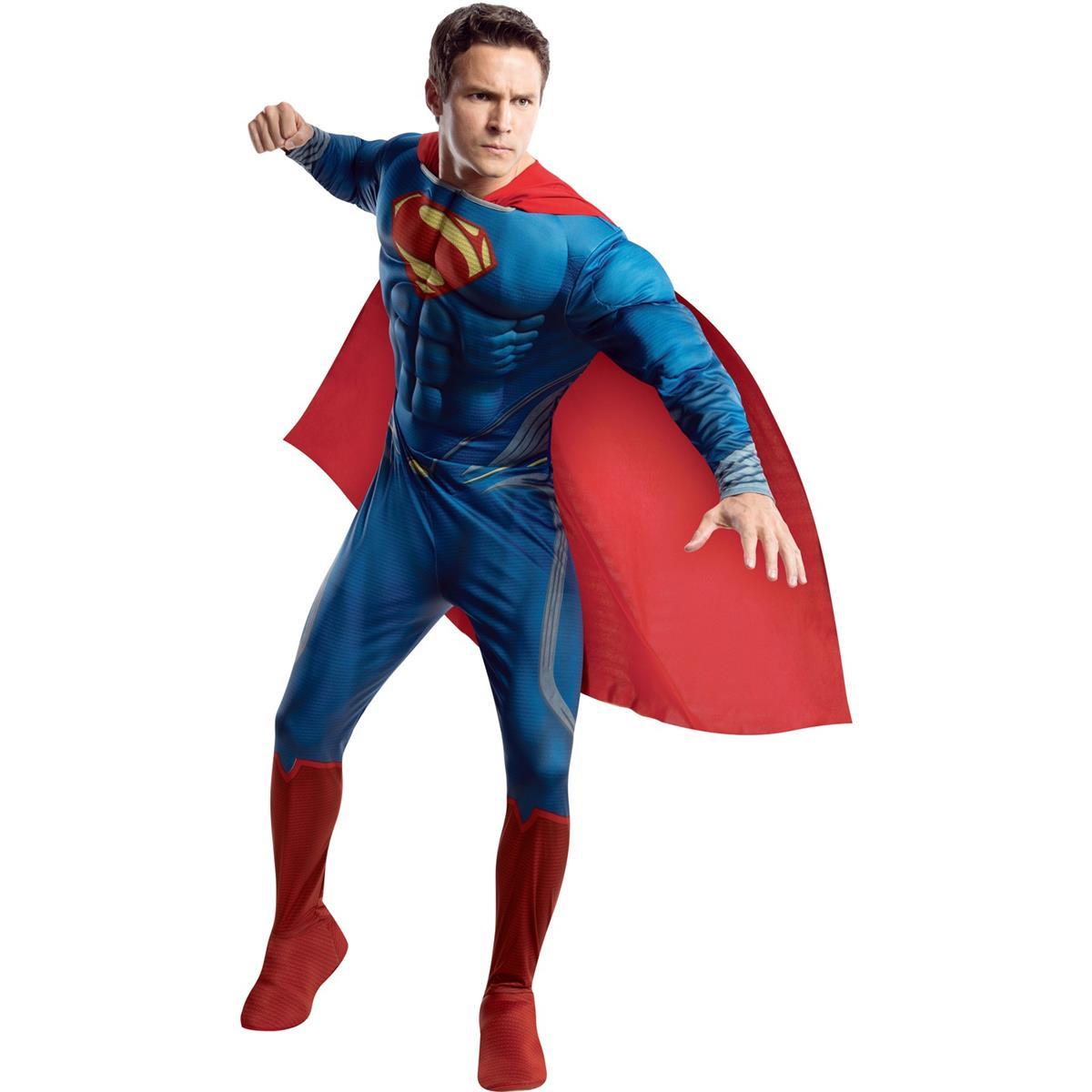 スーパーマン コスチューム 衣装 大人 男性 マン・オブ・スティール コスプレ マント付 スーツ