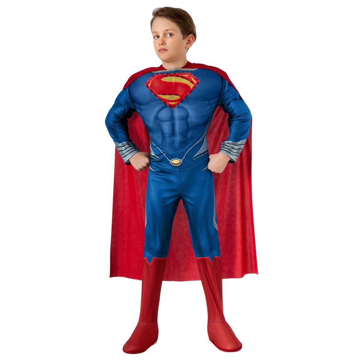 コスプレ 子供 衣装 男の子 人気 スーパーマン マン・オブ・スティール 映画 デラックス ライトアップ ・コスチューム