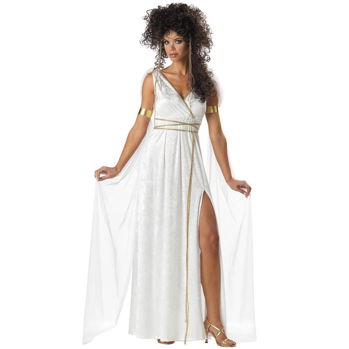 女神 ギリシャ神話 古代 ハロウィン コスプレ 衣装 古代ギリシャ アテネの女神 大人用セクシーコスチューム