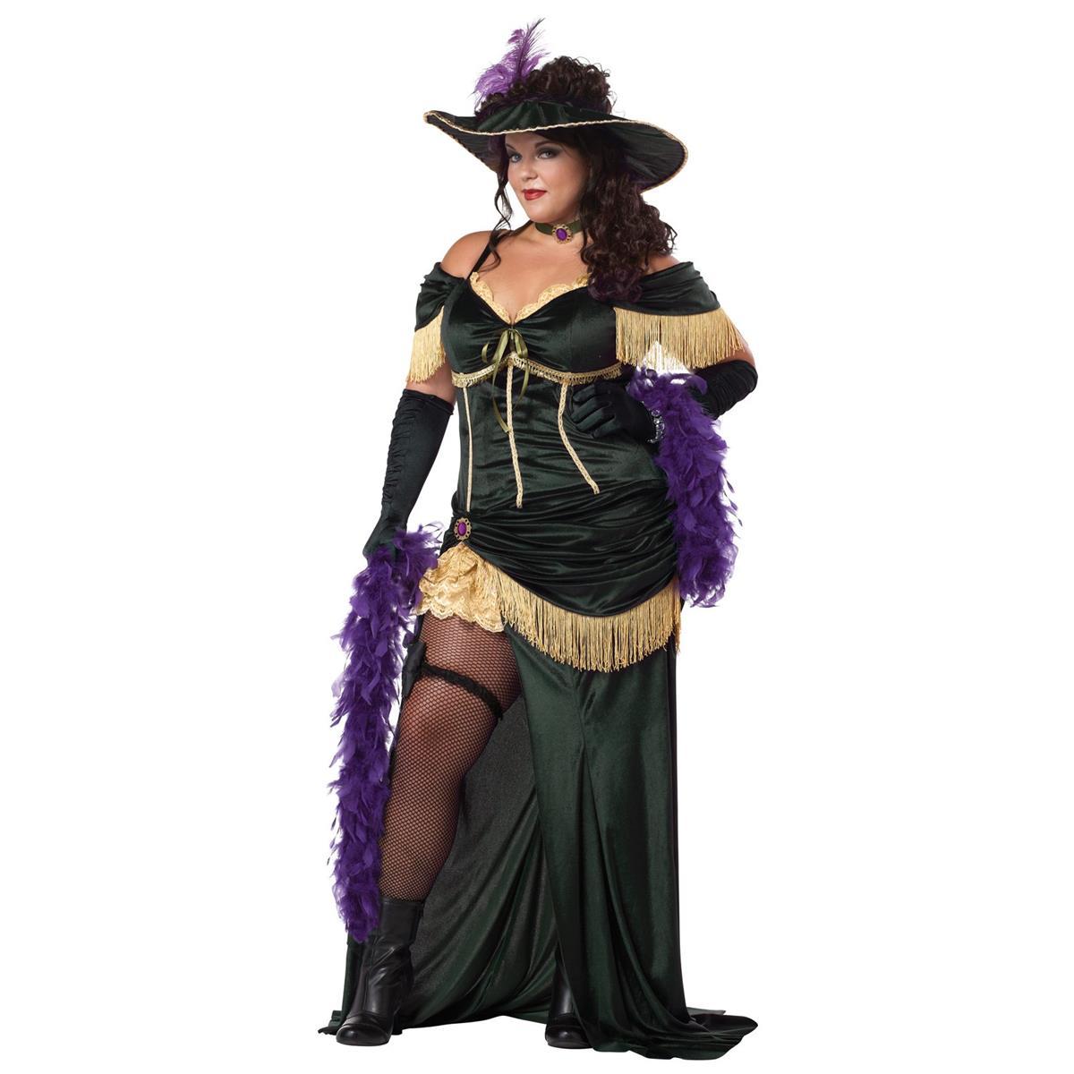 プレゼント サロンマダム 大人用 プラスサイズ 大きいサイズ コスチューム ハロウィン衣装