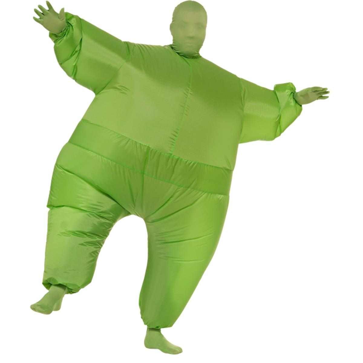 ハロウィン 全身タイツ ボディスーツ ボディーストッキング 膨らむグリーンスーツ 大人用 コスチューム