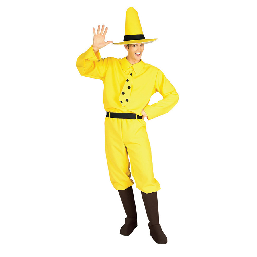 おさるのジョージ コスプレ コスチューム 黄色い帽子のおじさん 大人用 ハロウィン 仮装 アニメキャラクター 申年