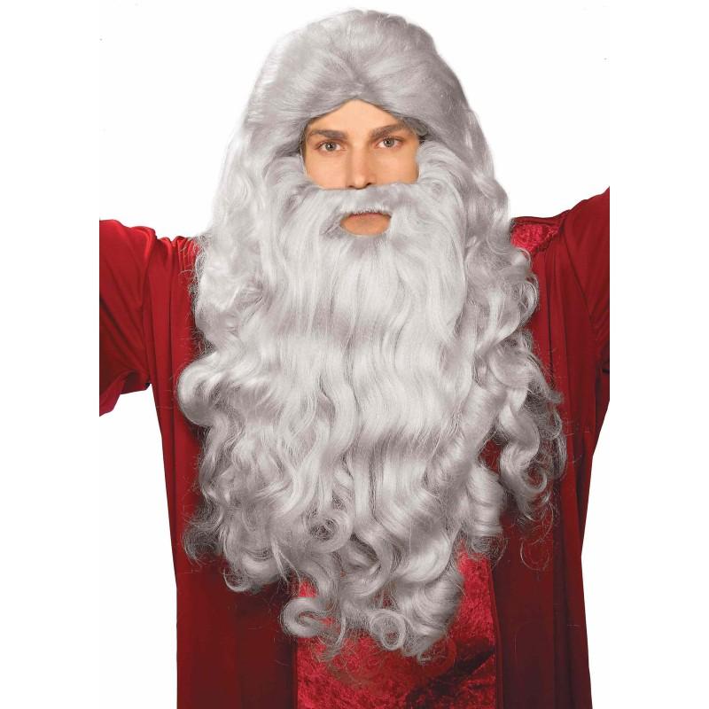 クリスマス 雑貨 グッズ 付け髭 仮装 モーゼ ウィッグ 付け髭 セット ハロウィン モーセ