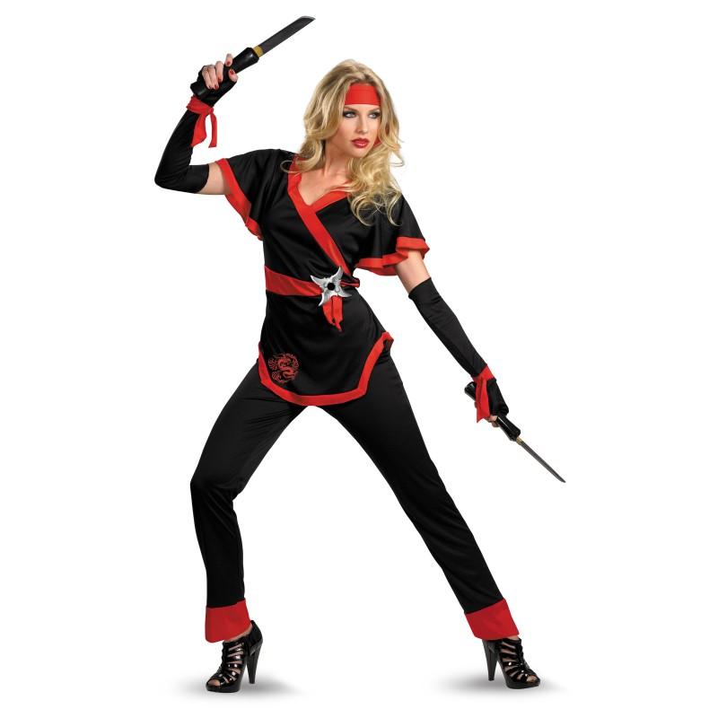 Acomes Female Ninja Dragon Ninja Halloween Cosplay Costume