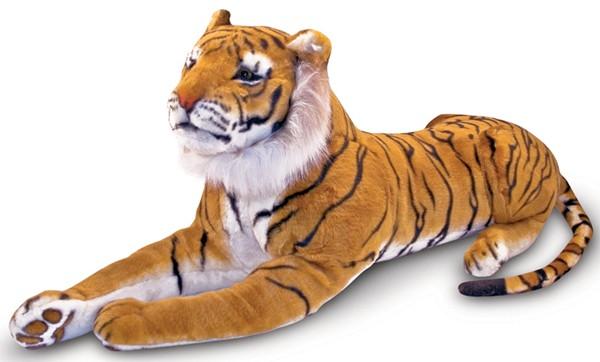 Melissa & Doug(メリッサ&ダグ)のカラフルなタイガー(虎)のぬいぐるみ