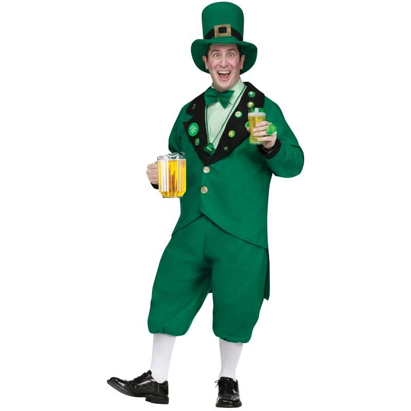 緑 セントパトリックスデー レプラコーン コスチューム ハロウィン 男性用 大人用
