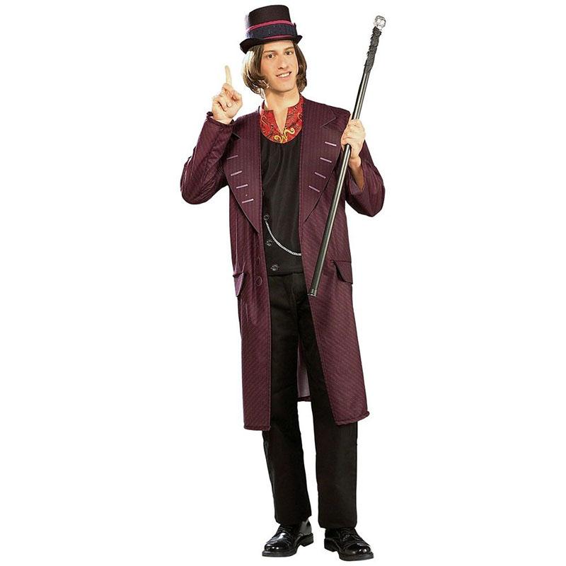 チャーリーとチョコレート工場 衣装 コスプレ コスチューム ウィリー・ウォンカ 大人用 ハロウィン 仮装 ジャケット ベスト ハット セット
