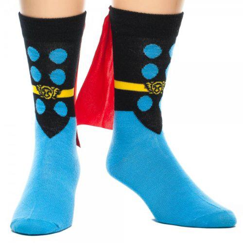 日本最大級の品揃え 通常便なら送料無料 マイティー ソー グッズ アベンジャーズ マーベル コスプレ ソーケープ付き靴下 マイティ セール開催中最短即日発送 ソックス 大人用 ハロウィン