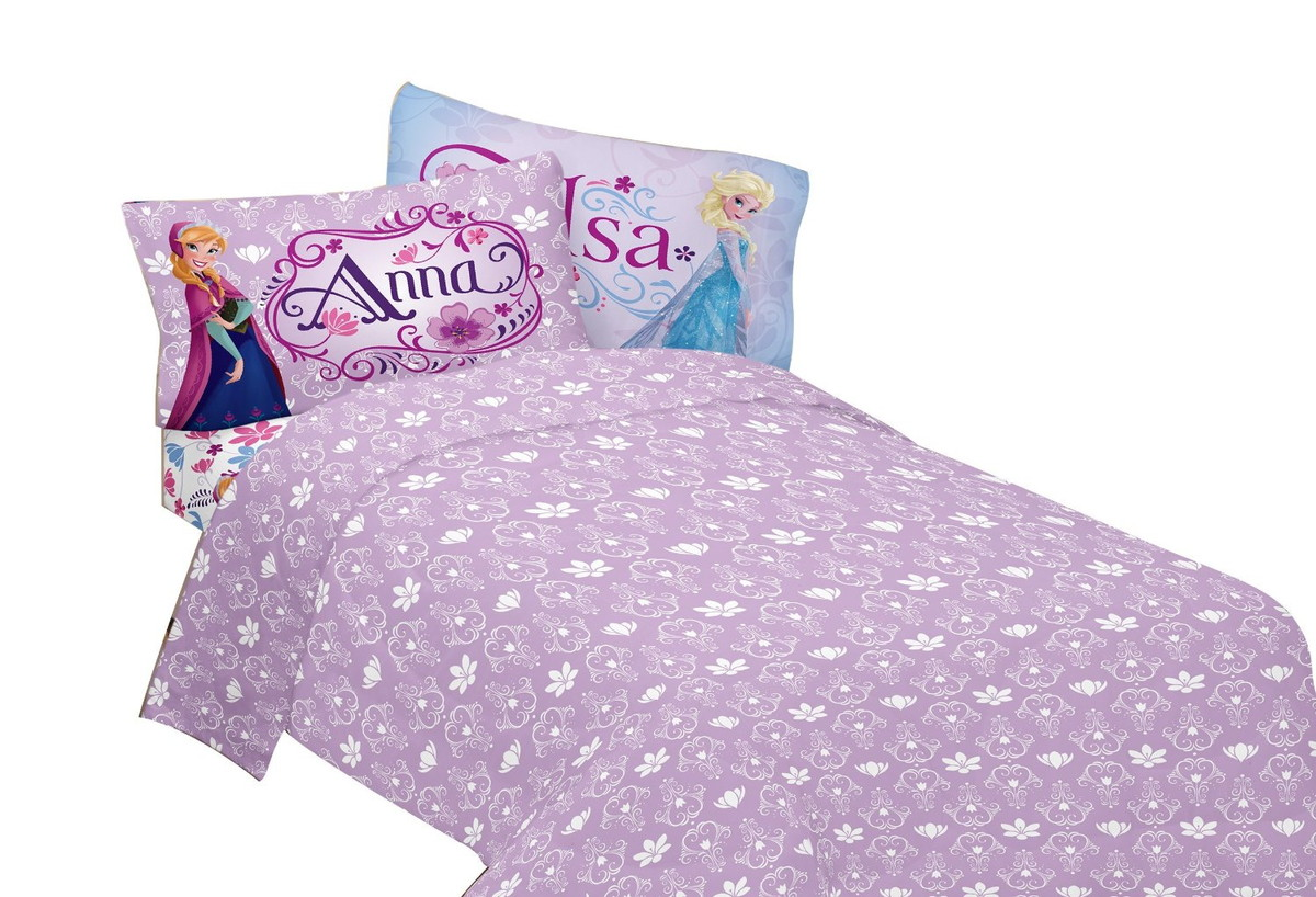 Queen Ana And Snow Toy Elsa Frozen Disney Princess 3 Piece Bed Sheet Set