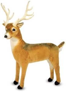 動物 ぬいぐるみ 大きい 人形トナカイ 鹿 Melissa & Doug メリッサアンドダグ