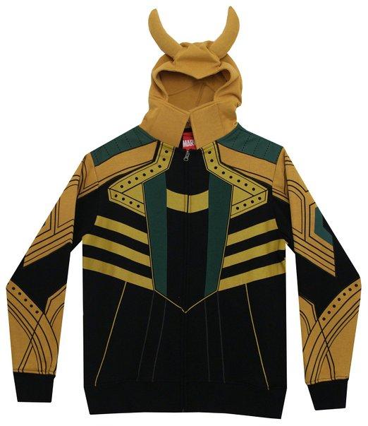マーベル ロキ 変身パーカー ジッパー付き つの付き スウェットシャツ 衣装・コスチューム
