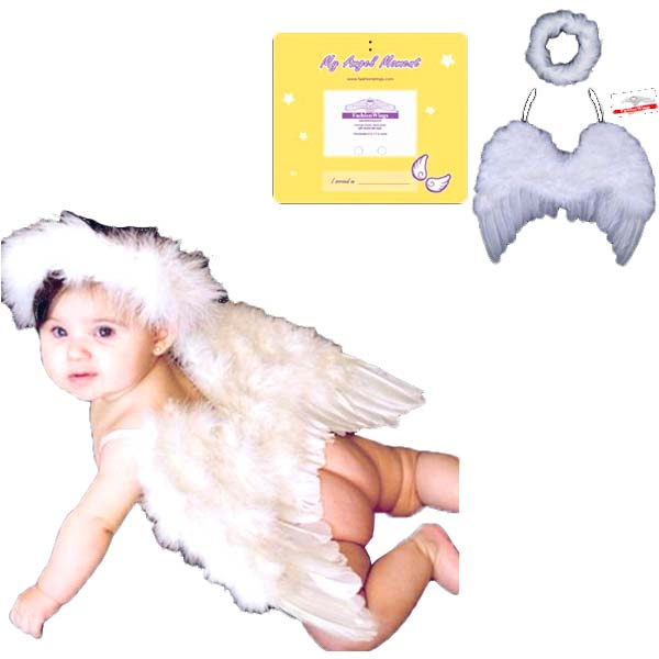 ベビー 用 天使の羽 輪エンジェル 衣装 コスチューム 出産祝い 記念撮影 ギフト コスプレ