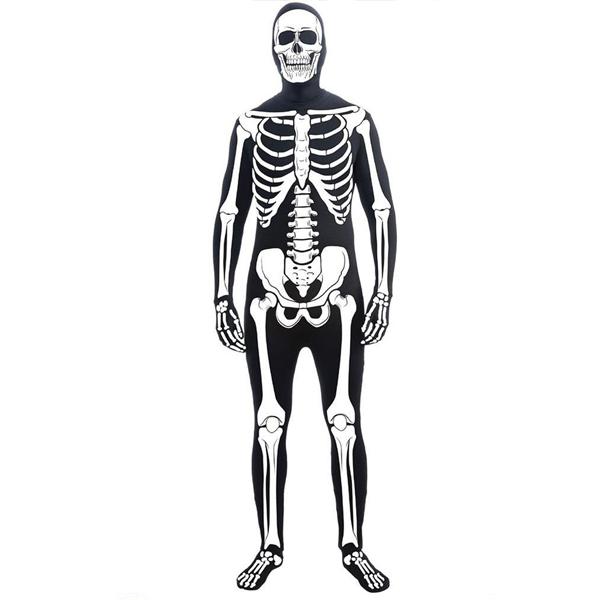 スケルトン ガイコツ 骸骨 全身タイツ ボディスーツ コスプレ 大人用コスチューム ハロウィーン 衣装 仮装 ホラー