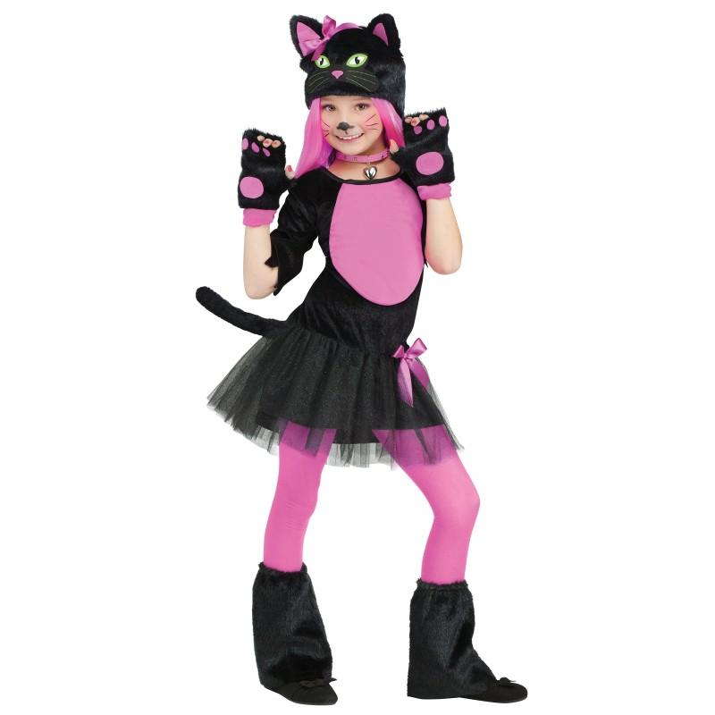 Acomes Cat Cat Cosplay Children S Mini Dress Girl Costume Halloween